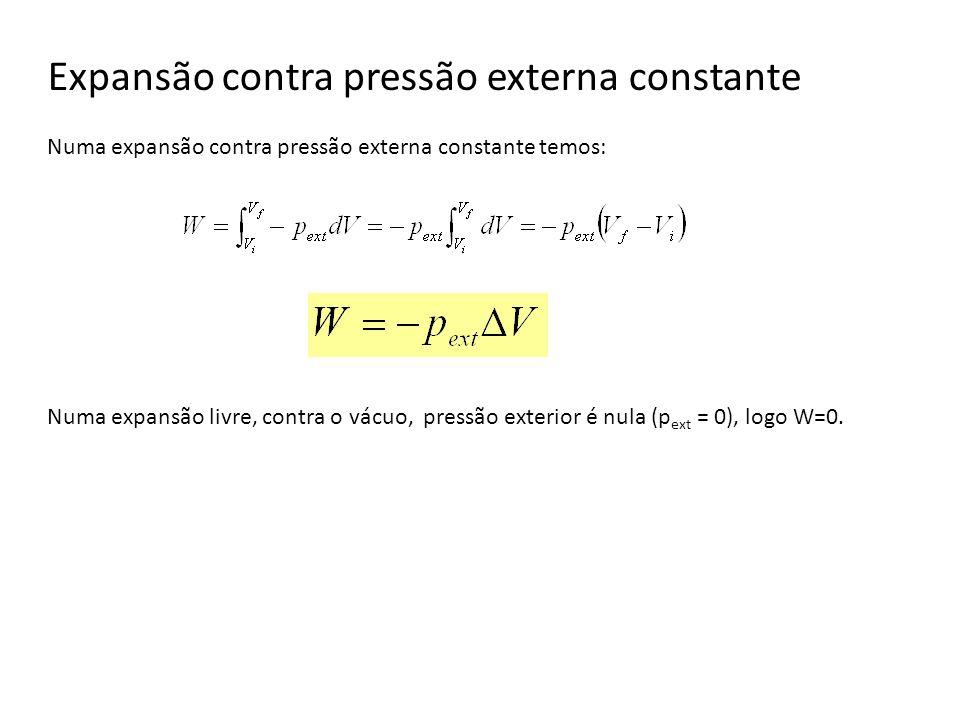 Expansão contra pressão externa constante