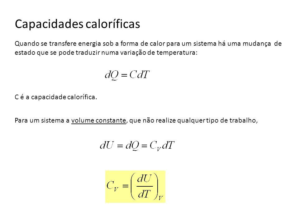 Capacidades caloríficas