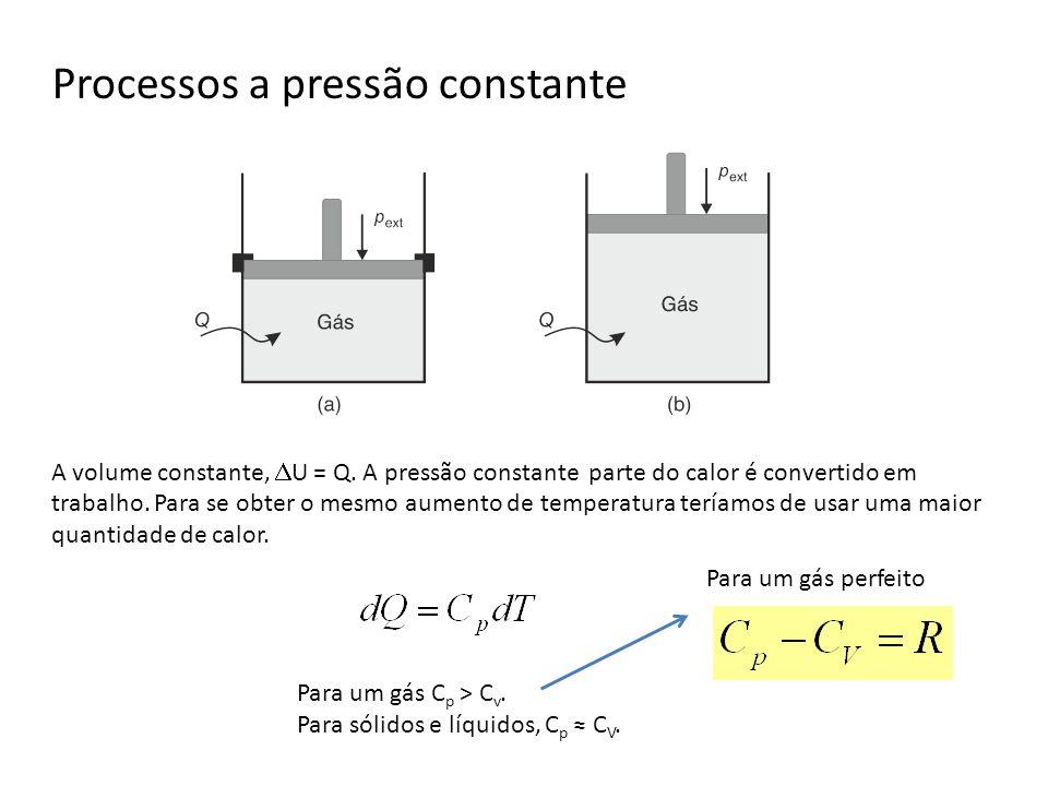 Processos a pressão constante