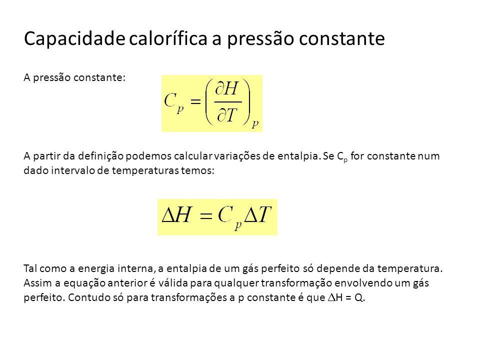 Capacidade calorífica a pressão constante