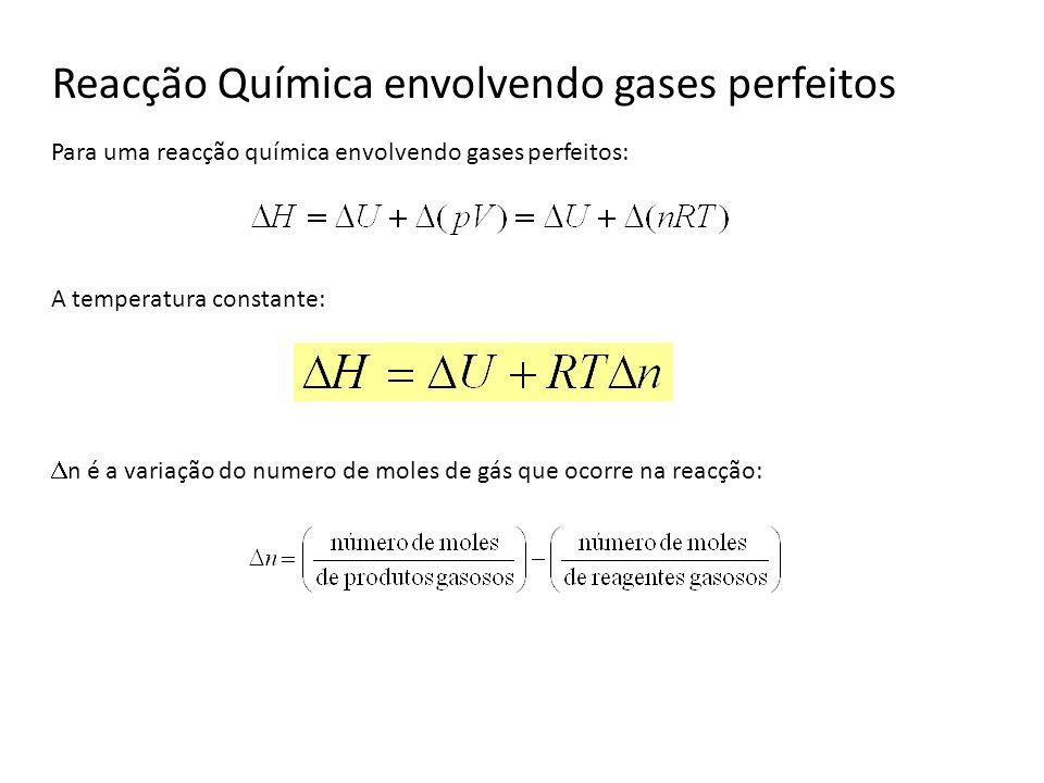 Reacção Química envolvendo gases perfeitos