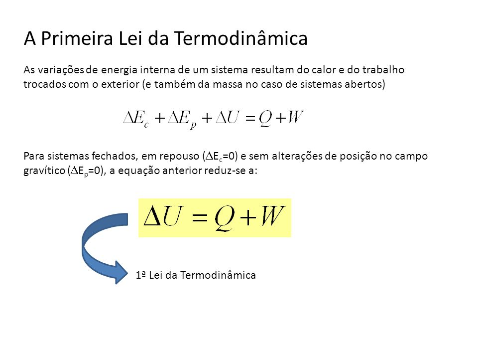 A Primeira Lei da Termodinâmica