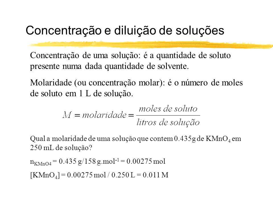 Concentração e diluição de soluções