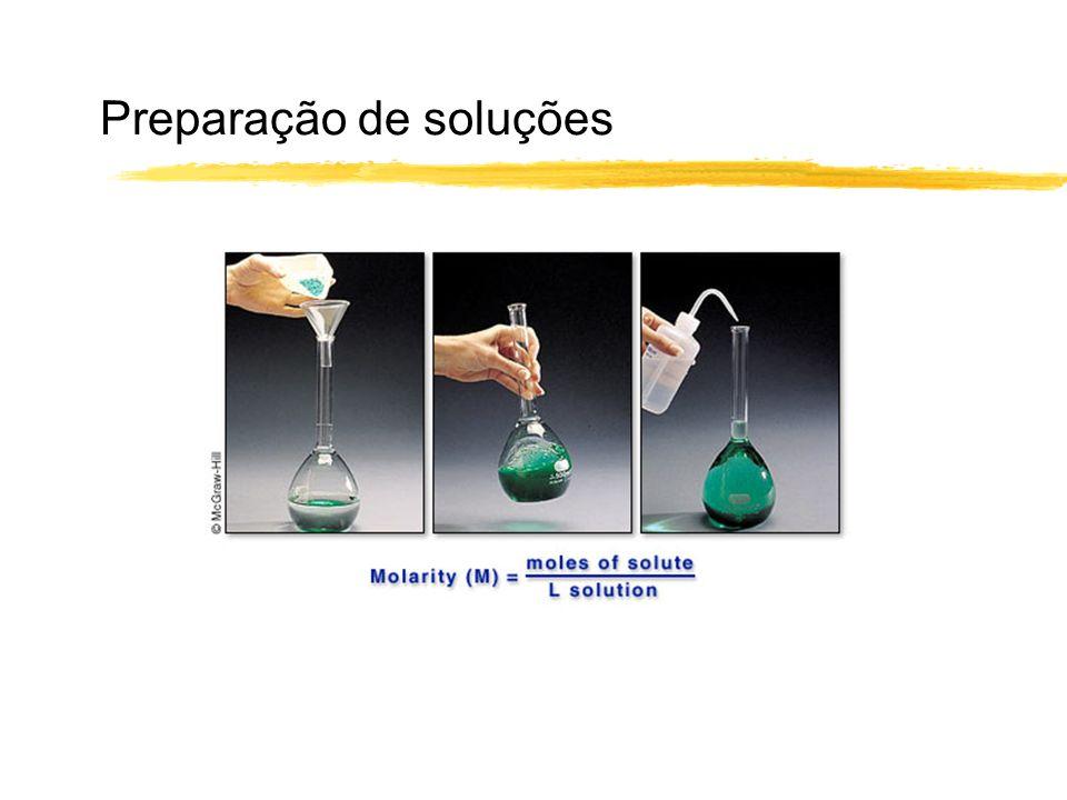 Preparação de soluções
