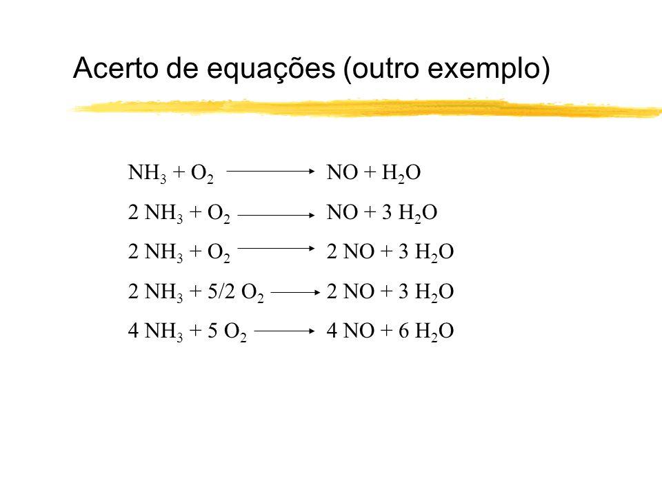 Acerto de equações (outro exemplo)