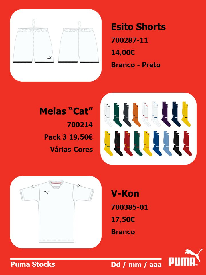 Esito Shorts Meias Cat V-Kon 700287-11 14,00€ Branco - Preto 700214