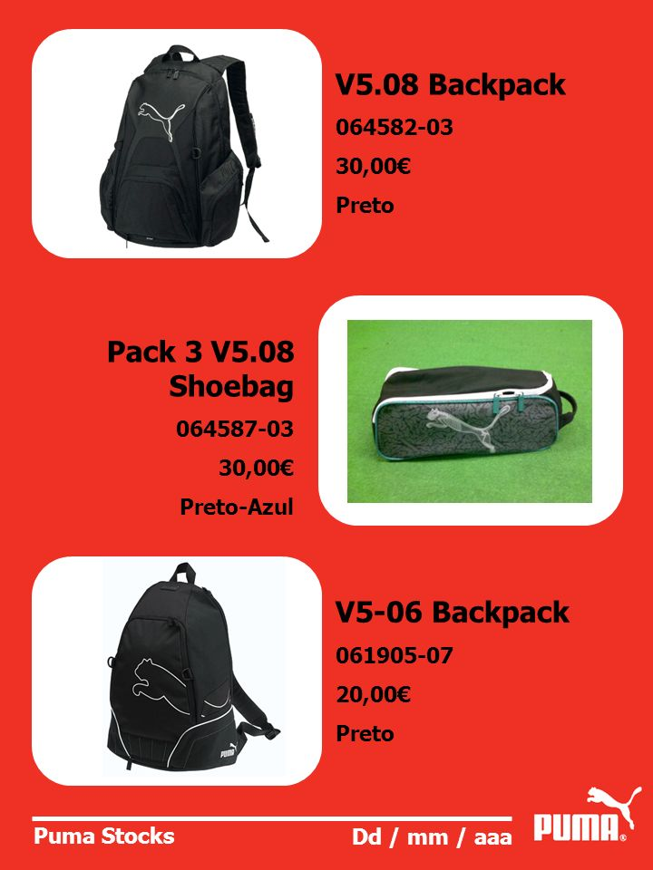 V5.08 Backpack Pack 3 V5.08 Shoebag V5-06 Backpack 064582-03 30,00€