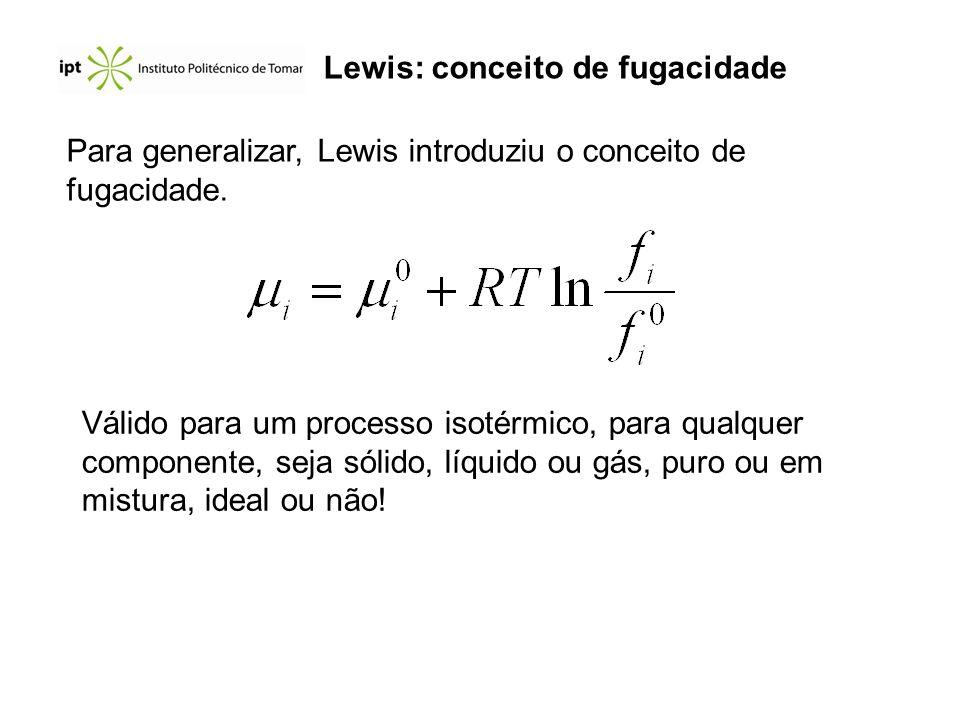 Lewis: conceito de fugacidade