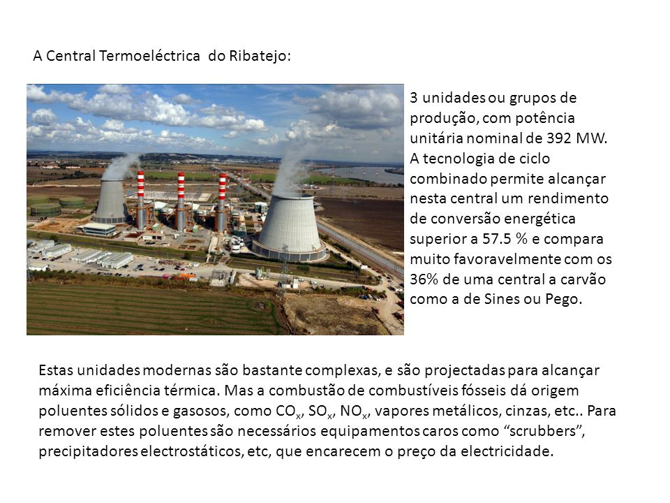 A Central Termoeléctrica do Ribatejo: