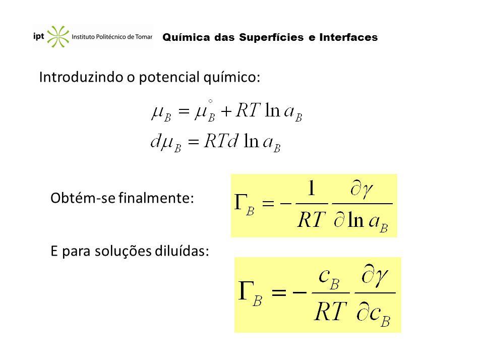 Introduzindo o potencial químico: