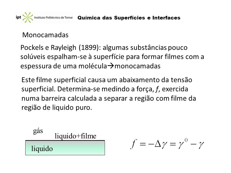 Química das Superfícies e Interfaces