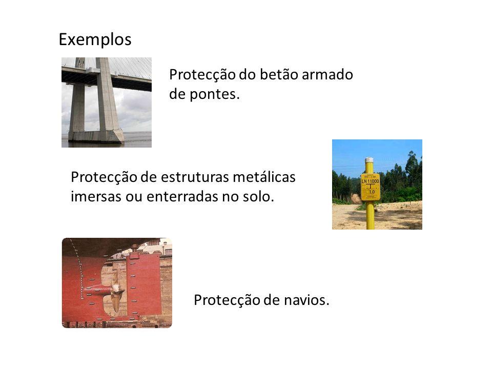 Exemplos Protecção do betão armado de pontes.