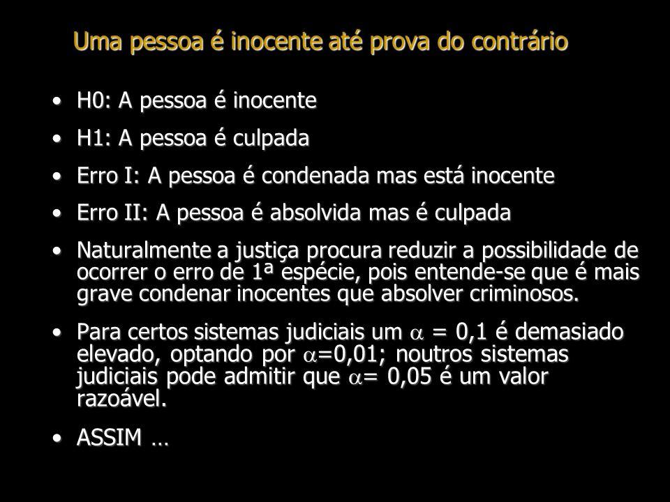 Uma pessoa é inocente até prova do contrário
