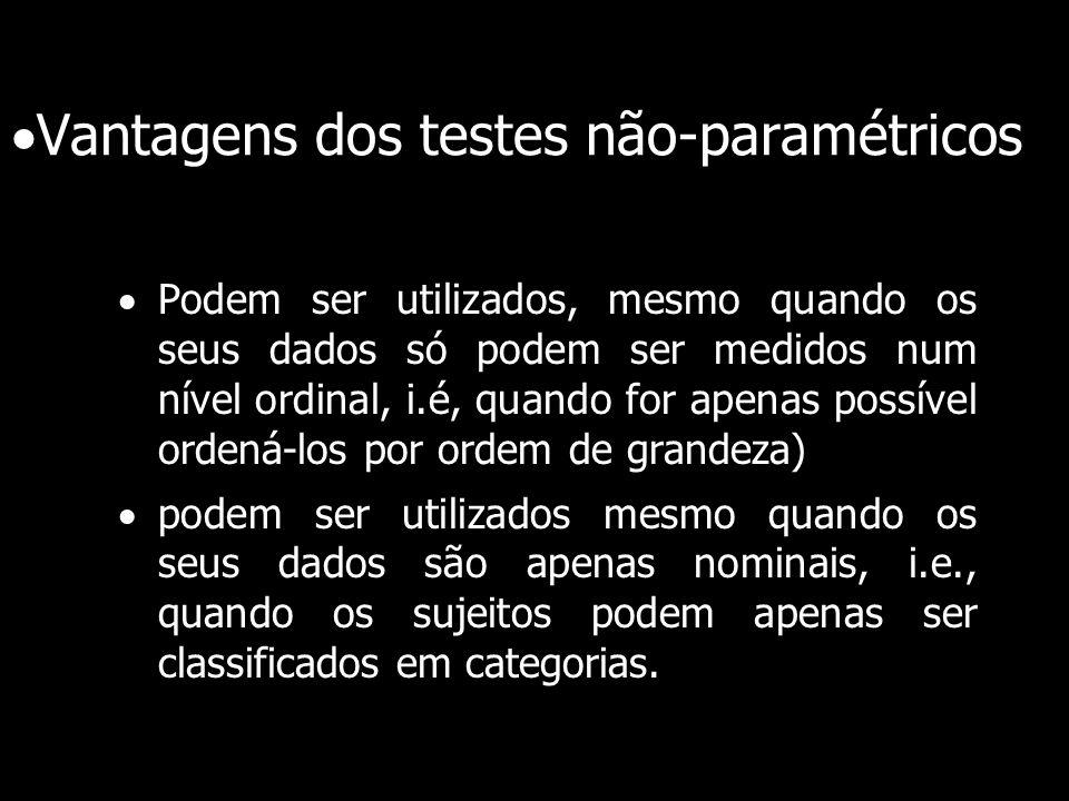 Vantagens dos testes não-paramétricos