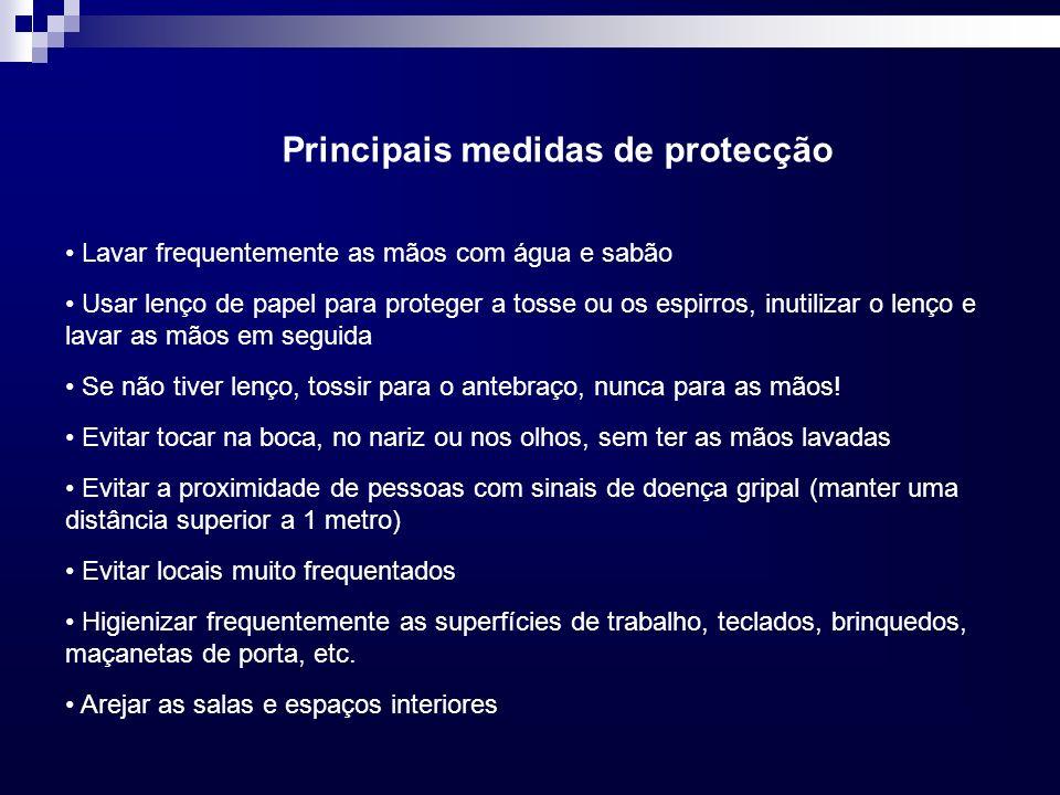 Principais medidas de protecção