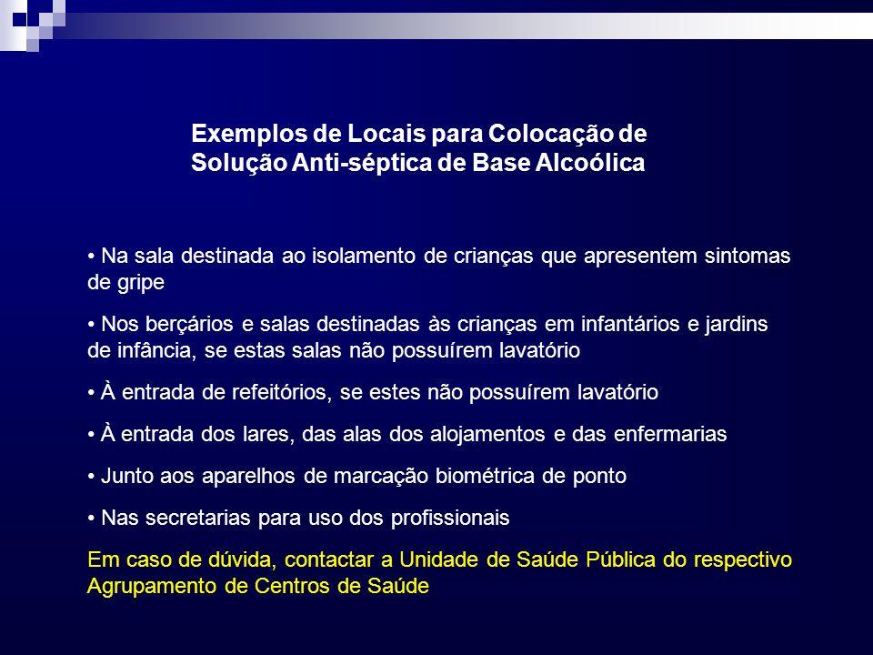 Exemplos de Locais para Colocação de