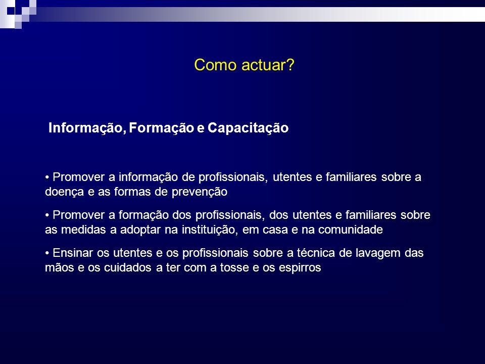 Como actuar Informação, Formação e Capacitação
