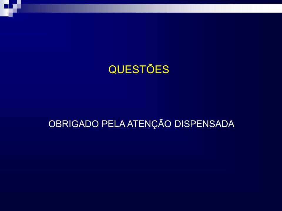 QUESTÕES OBRIGADO PELA ATENÇÃO DISPENSADA