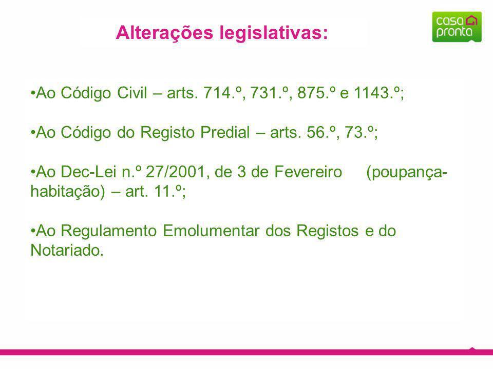 Alterações legislativas: