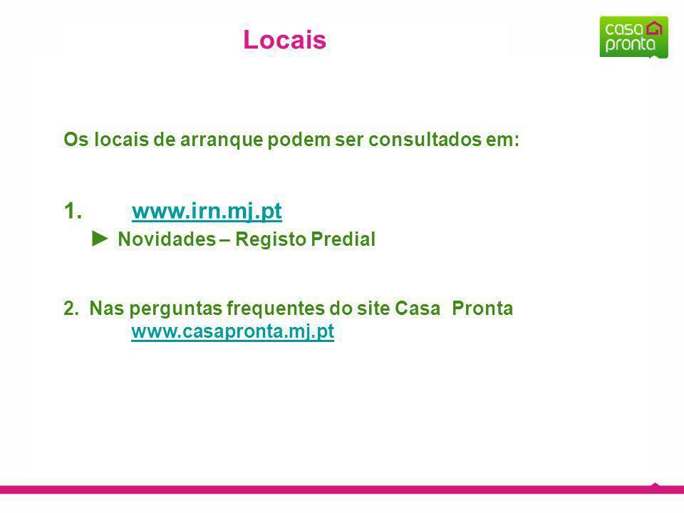 Locais www.irn.mj.pt ► Novidades – Registo Predial