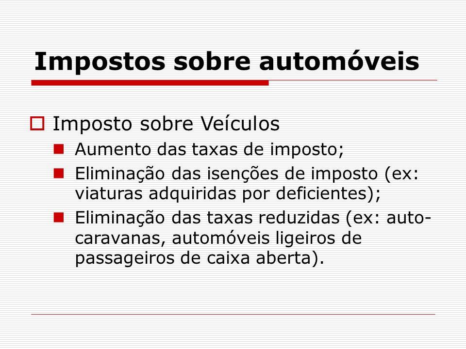 Impostos sobre automóveis