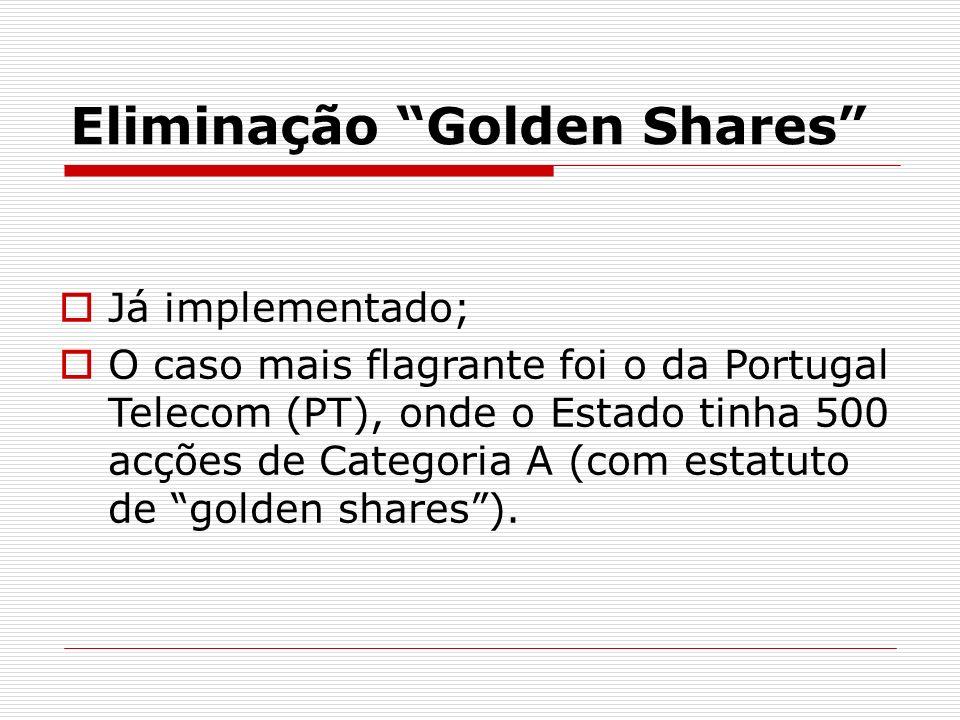 Eliminação Golden Shares