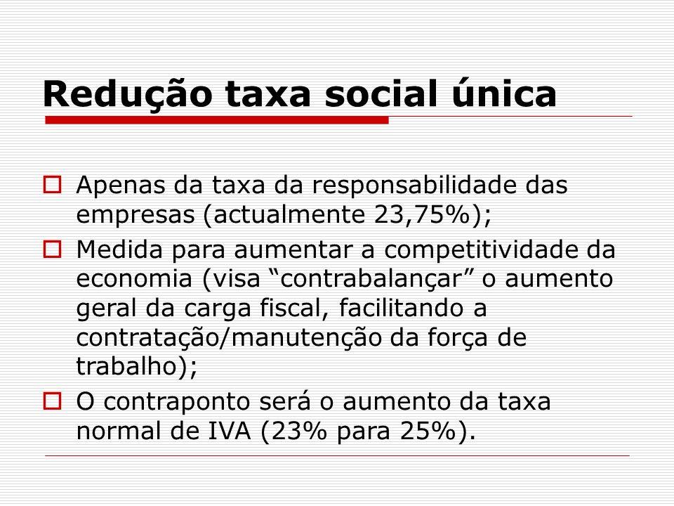 Redução taxa social única