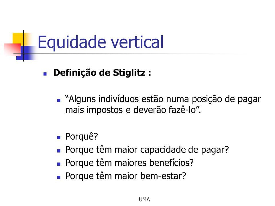 Equidade vertical Definição de Stiglitz :