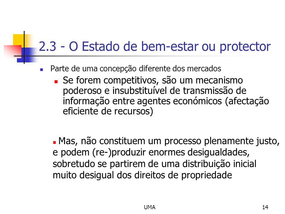2.3 - O Estado de bem-estar ou protector