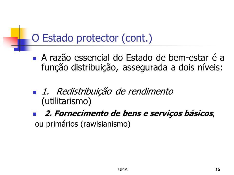 O Estado protector (cont.)