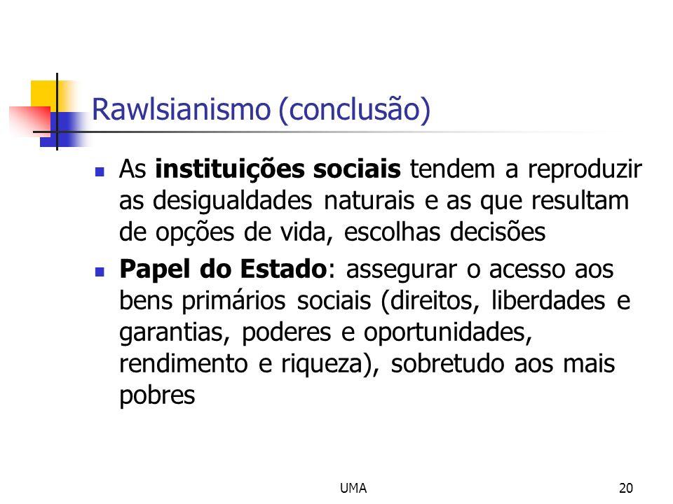 Rawlsianismo (conclusão)