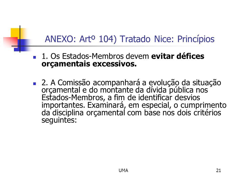 ANEXO: Artº 104) Tratado Nice: Princípios