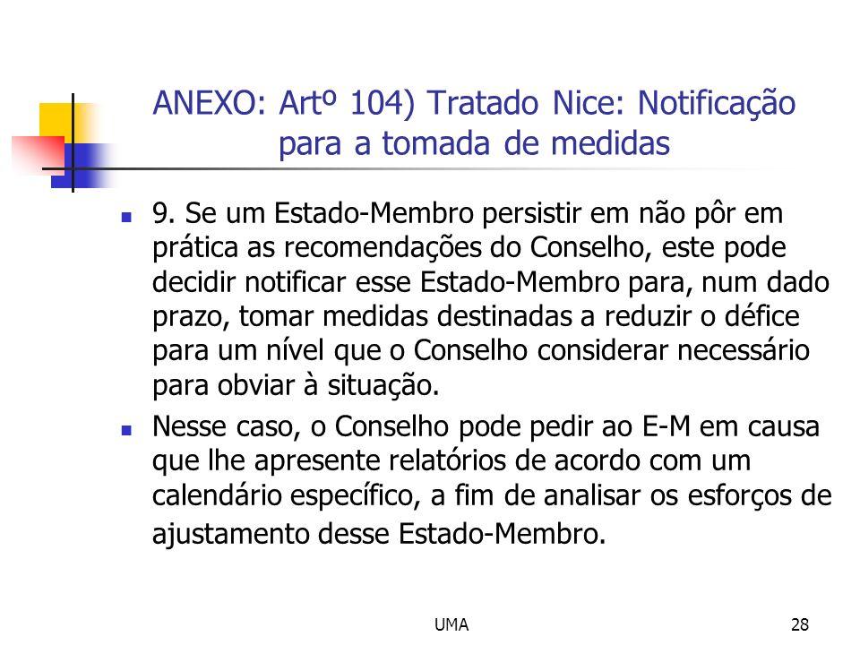 ANEXO: Artº 104) Tratado Nice: Notificação para a tomada de medidas