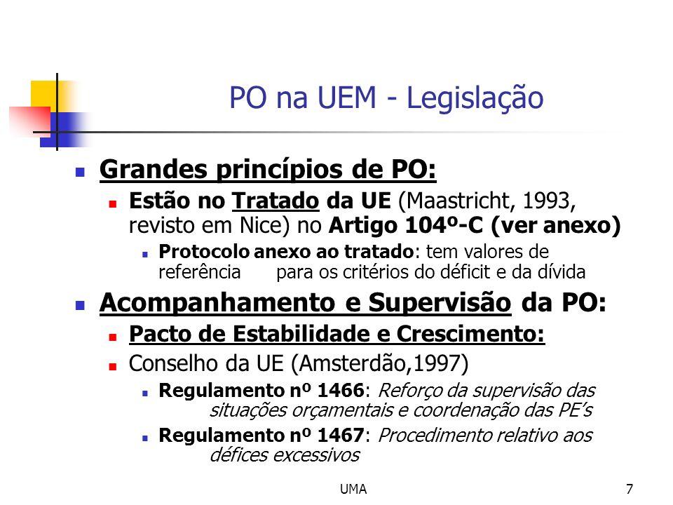 PO na UEM - Legislação Grandes princípios de PO: