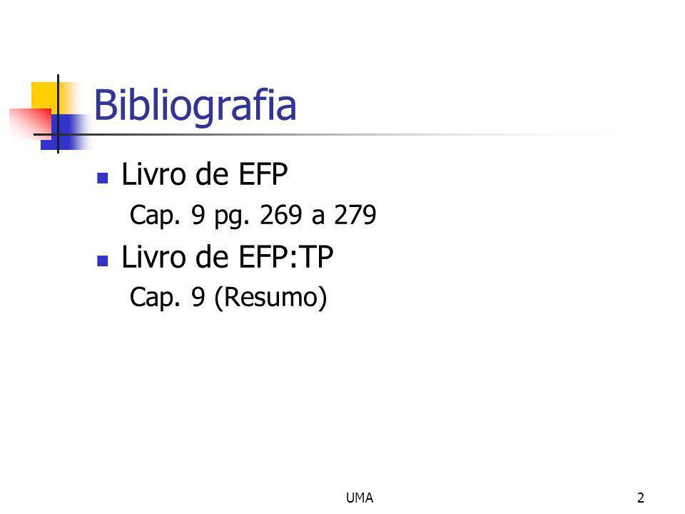 Bibliografia Livro de EFP Livro de EFP:TP Cap. 9 pg. 269 a 279