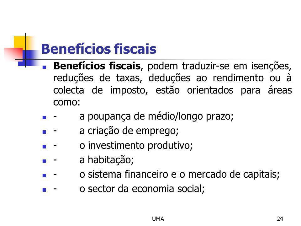 Benefícios fiscais