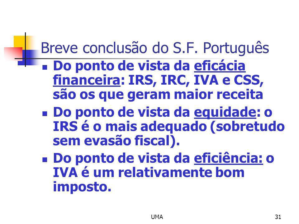 Breve conclusão do S.F. Português