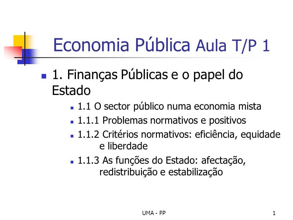 Economia Pública Aula T/P 1