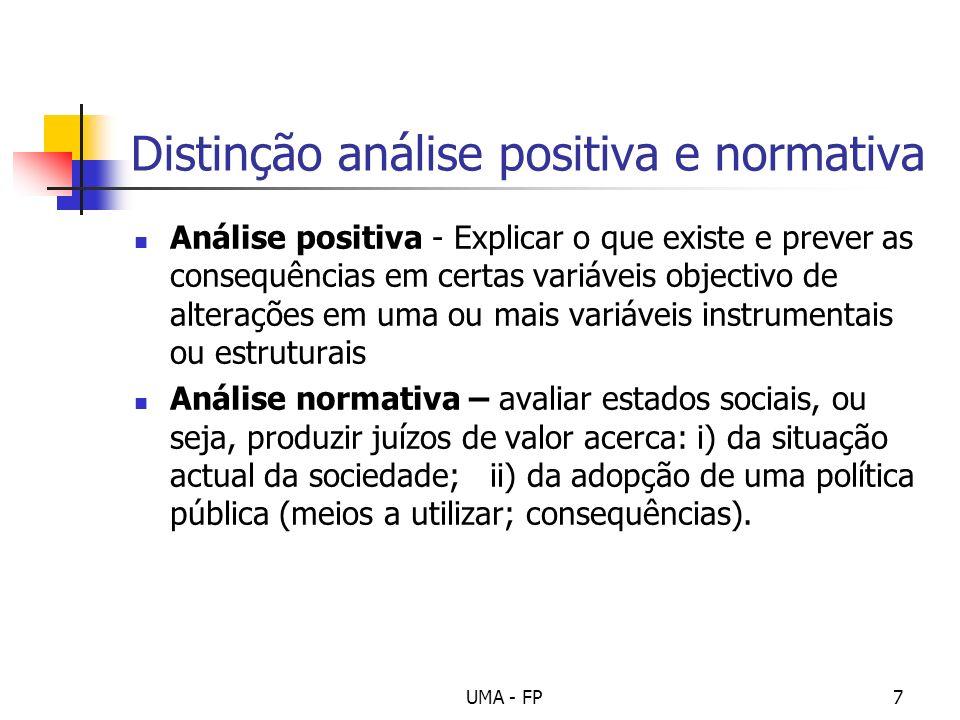Distinção análise positiva e normativa