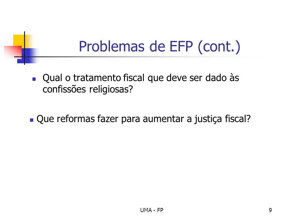 Problemas de EFP (cont.)