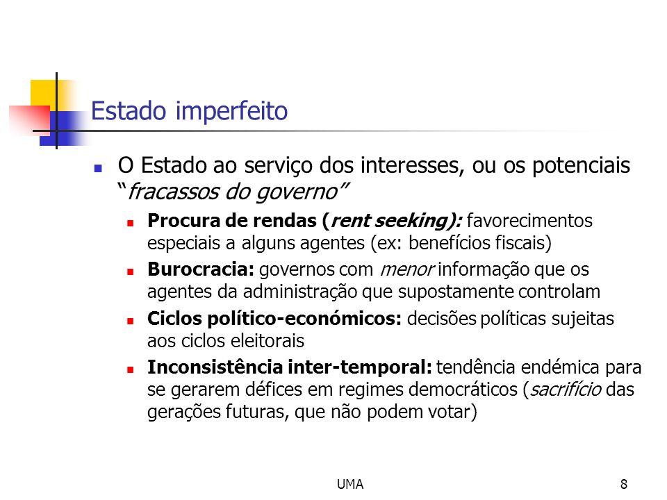 Estado imperfeito O Estado ao serviço dos interesses, ou os potenciais fracassos do governo