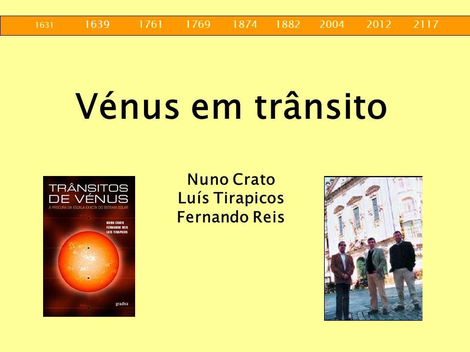 Vénus em trânsito Nuno Crato Luís Tirapicos Fernando Reis