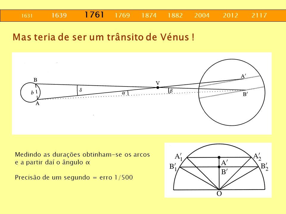Mas teria de ser um trânsito de Vénus !