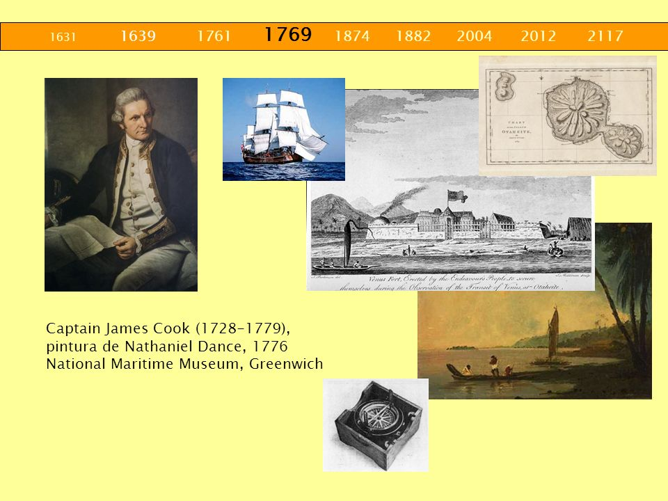 1631 1639 1761 1769 1874 1882 2004 2012 2117 Captain James Cook (1728-1779),