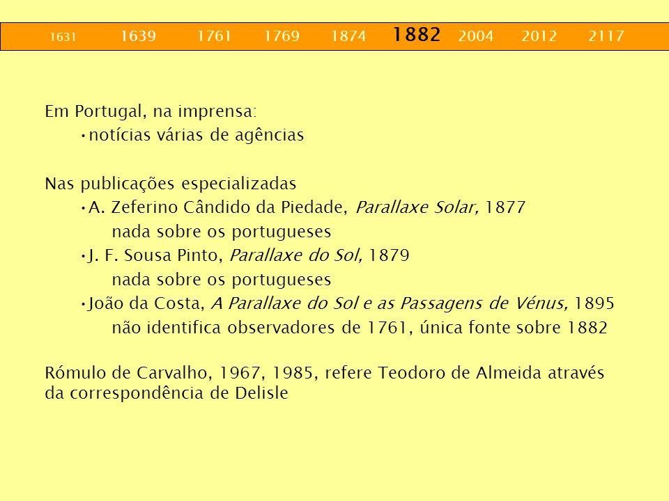 Em Portugal, na imprensa: notícias várias de agências
