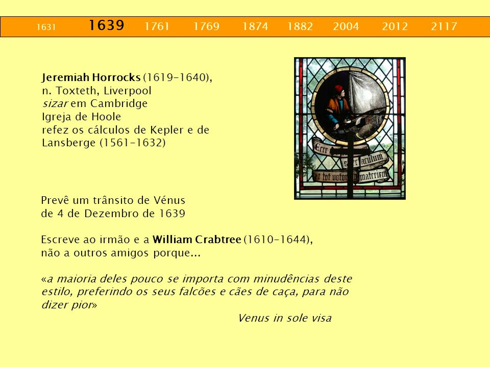 1631 1639 1761 1769 1874 1882 2004 2012 2117 Jeremiah Horrocks (1619-1640),