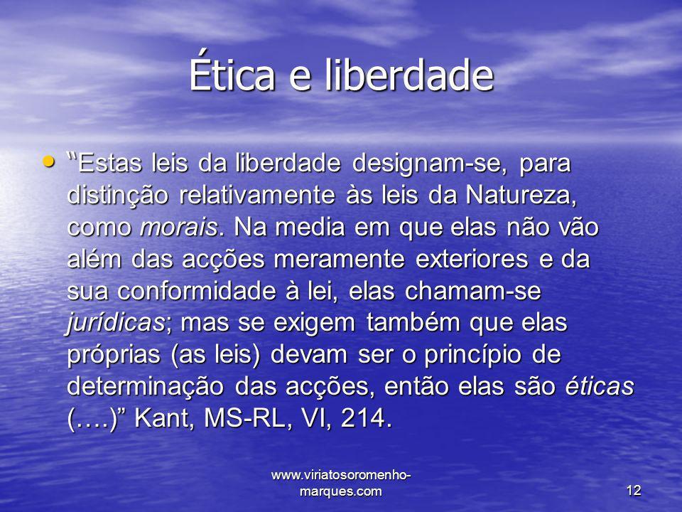 Ética e liberdade