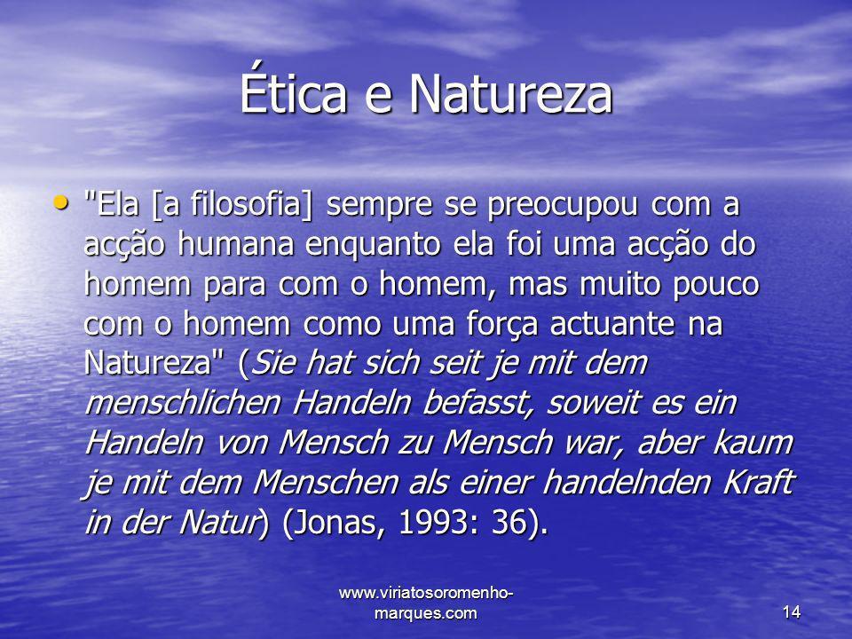 Ética e Natureza