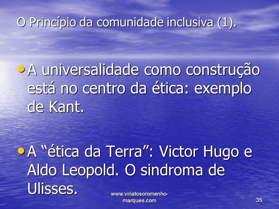 O Princípio da comunidade inclusiva (1).