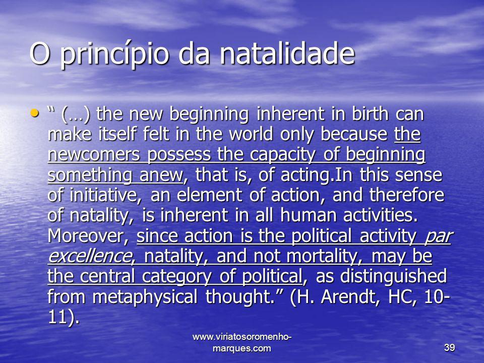 O princípio da natalidade